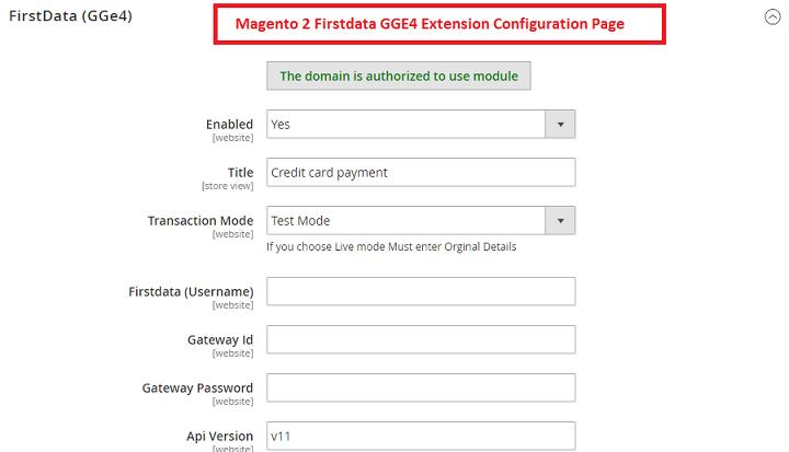 Magento 2 First Data
