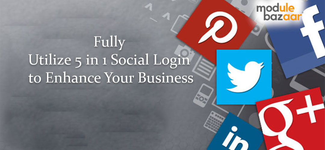 5 in 1 Social Login to enhance business