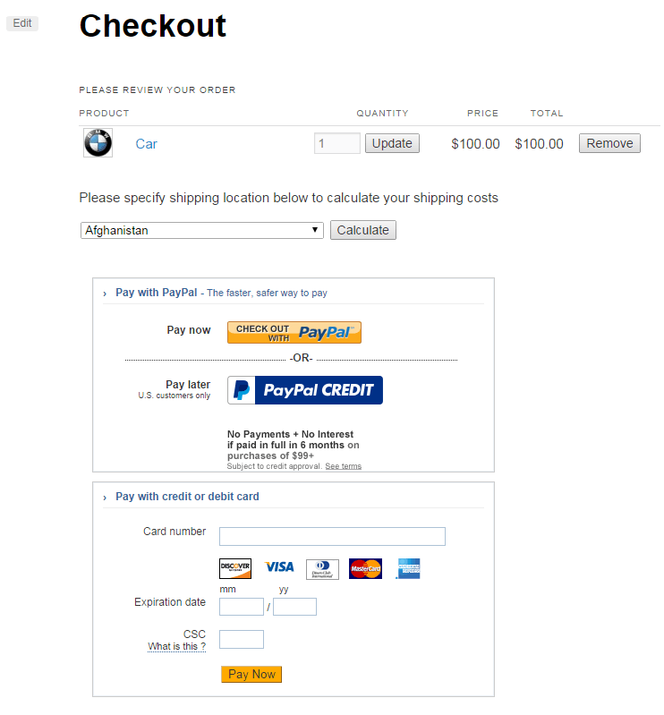 WP PayPal Payments Advanced plugin