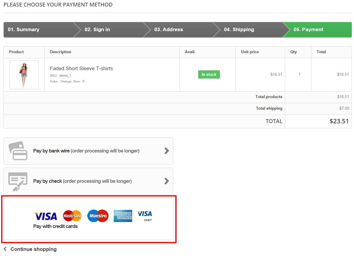 PrestaShop PayPal Pro Plus Payment
