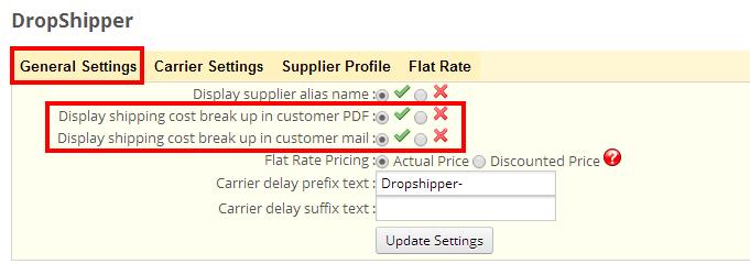 Dropshipper Invoice BreakUp