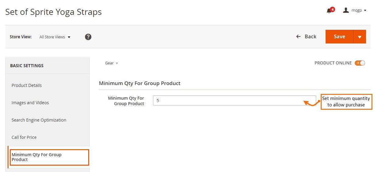 Magento 2 Minimum Quantity of Grouped Products