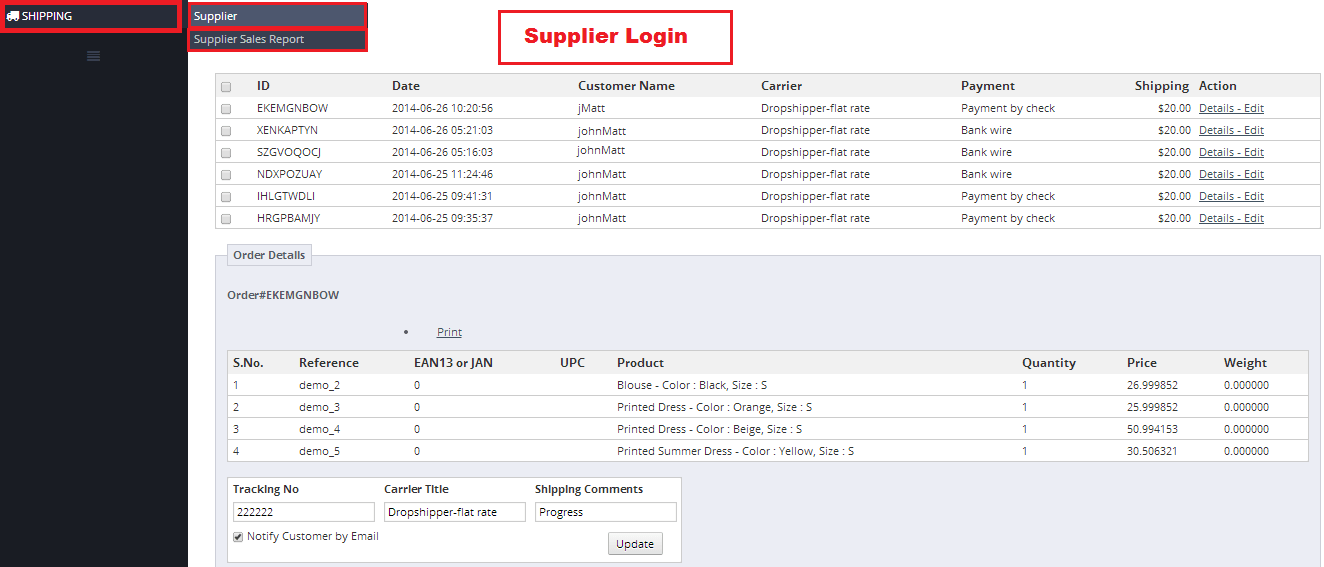 Dropshipper Supplier Login