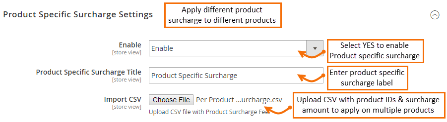 Magento 2 Product Surcharge