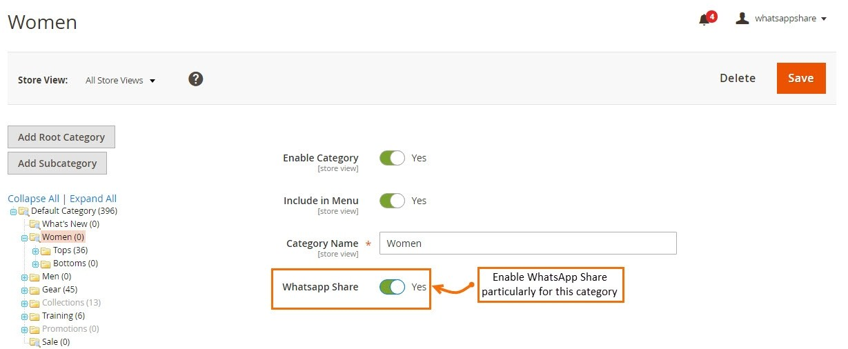 Magento 2 Whatsapp Share