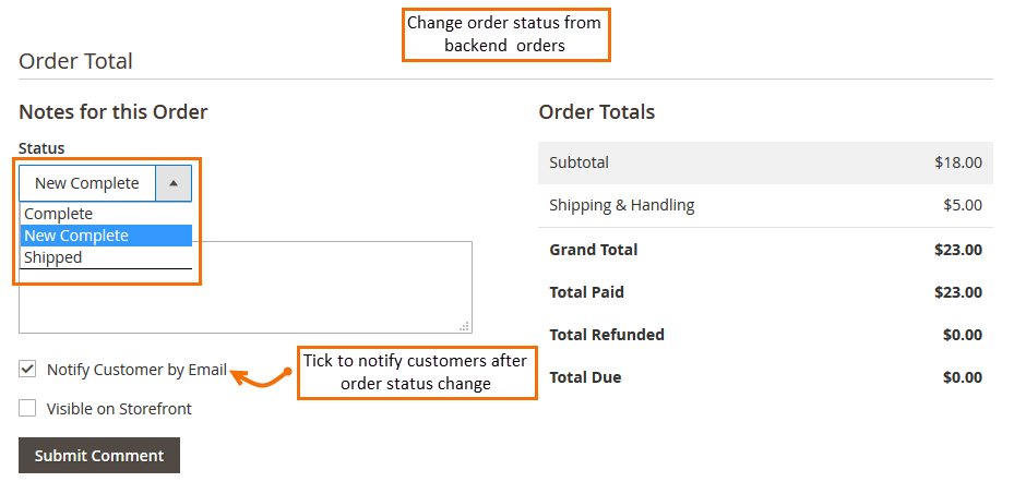 Magento 2 Order Status