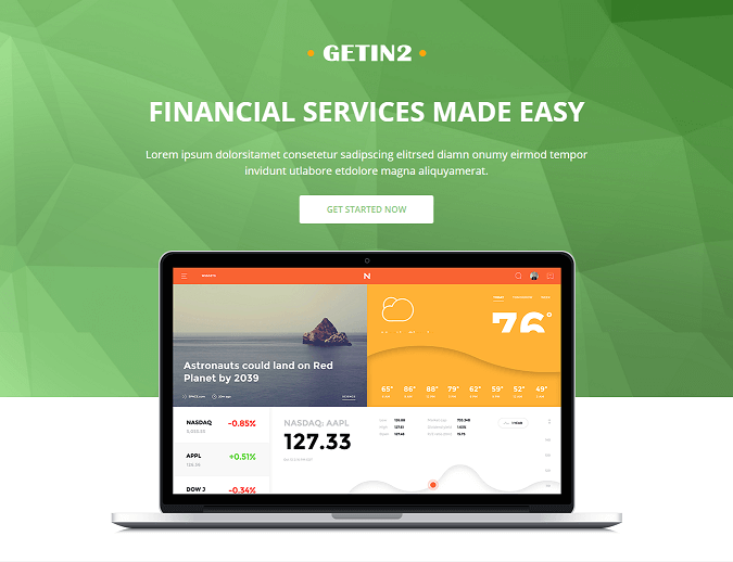Financial Pro - Responsive HTML template