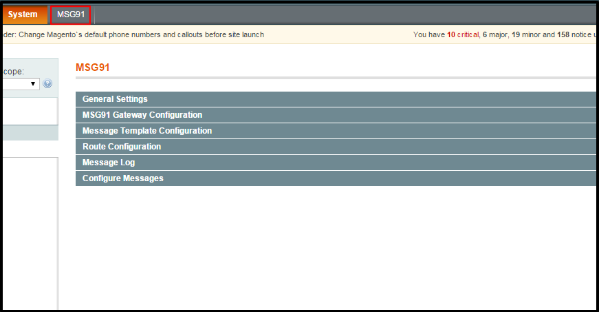 Magento MSG91 SMS Extension