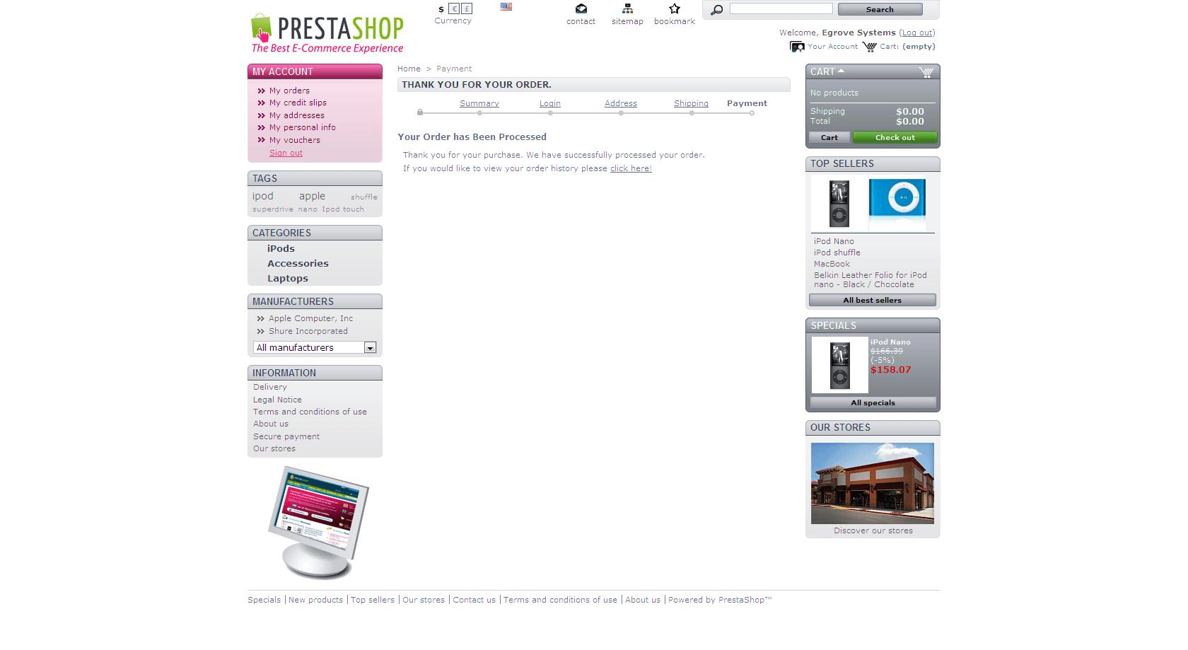 PrestaShop Authorize.Net eCheck Module