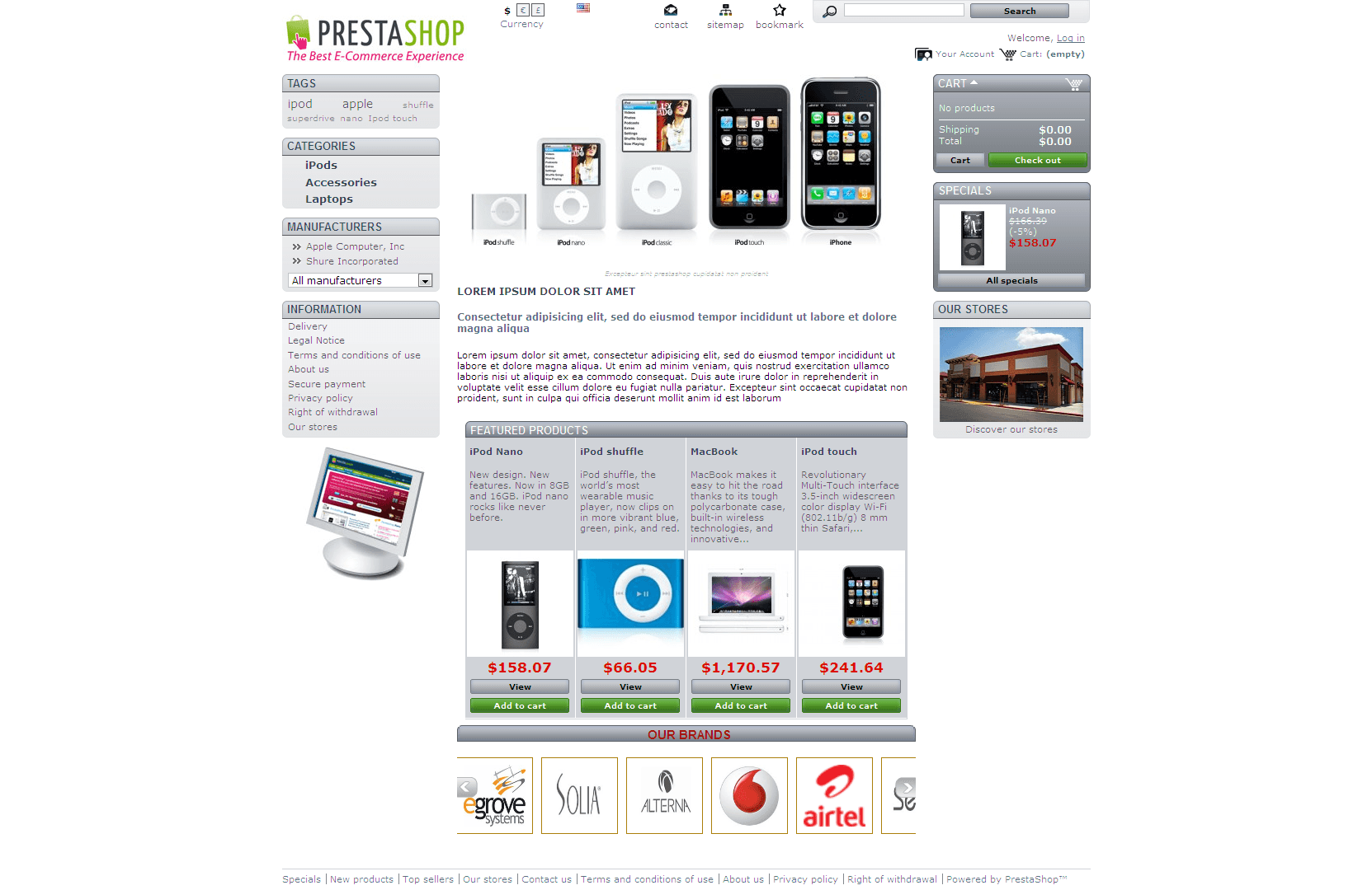 Prestashop Brand Display