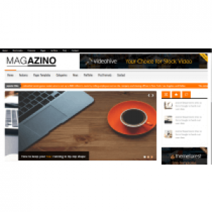 Magazino – Business landing Page responsive Template