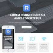 App Pro – Responsive HTML template to promote Mobile App