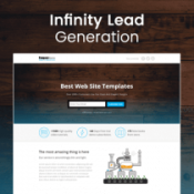 Infinity - Lead generation landing page HTML Template
