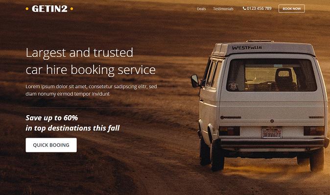 Car Rental Responsive Template   HTML Template