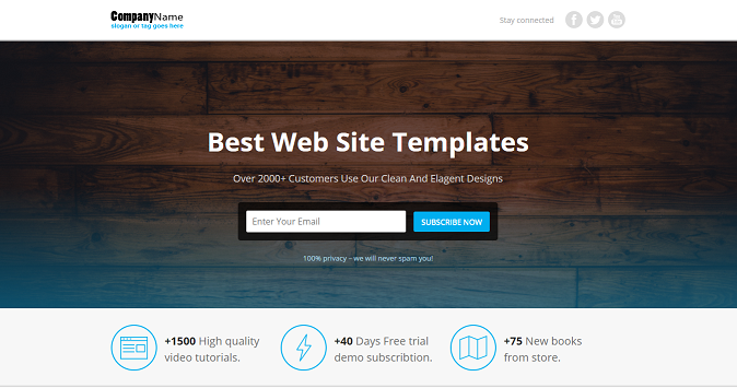 Lead generation landing page HTML Template   HTML Template