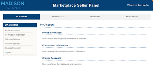 Marketplace Separate Seller Interface